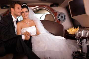 Inside Wedding Limo